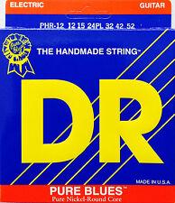 DR  PHR-12PL Electric Guitar Strings 12-52 Pure Blues ex heavy w/ plain third