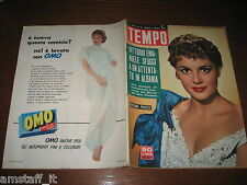 RIVISTA TEMPO 1956/40=ROSSANA PODESTA'=CAROLINE FREUD=GREGORY PECK=MARIO LANZA=