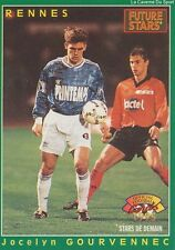 N°231 J. GOURVENNEC RENNES RENNAIS CARTE PANINI FOOTBALL 95 FRANCE CARDS 1995
