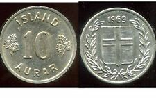 ISLANDE 10 aurar 1969