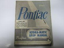 61 Pontiac Bonneville Catalina Star Chief Ventura Hydra-Matic Shop Manual USED