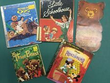 Five Vintage Children's Books - as shown - Fair to Good