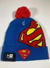 OFFICIAL NEW ERA SUPERMAN Blue and Red Hero Knit Bobble Hat Beanie * NEW