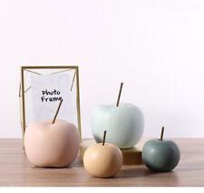 Decorative Ceramic Statue of Apple Fruit Figurine Home Mantel House Decor Accent