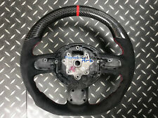 Mini CooperS R56 R61 JCW Sport Steering Wheel Alcantara Red Ring Carbon Fiber