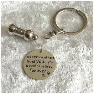 Pet Ashes Urn Jewellery Keyring. If Love Could Have Saved You Cremation Keepsake