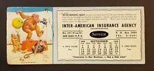 VTG ADVERTISING CARD / SECADOR / INTER-AMERICAN INSURANCE / SJ PUERTO RICO 1949