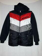 RocaWear Hooded Winter Coat Black Nylon Puffer Full Zip Jacket 14/16 Large