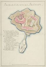 MAP ANTIQUE 1800 ANON NORWAY FREDRIKSHOLM FORTRESS REPLICA POSTER PRINT PAM0257