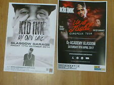 Kid Ink live music memorabilia - Scottish tour Glasgow concert gig posters x 2