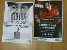 Kid Ink - Scottish tour Glasgow concert gig posters x 2