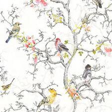 ORNITHOLOGY BIRDS WALLPAPER WHITE - HOLDEN 98060