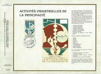 FEUILLET CEF 1er JOUR MONACO ACTIVITÉS INDUSTRIELLES DE LA PRINCIPAUTÉ 1984