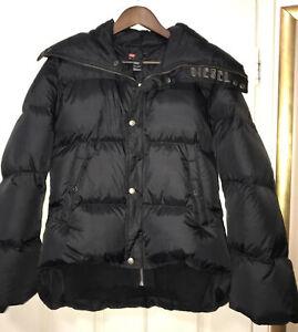 Diesel Black Puffa Jacket Size M