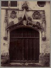 Porte Moyen âge Art gothique France Vintage albumine ca 1880