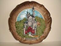 Teller Relief Wandteller,Neuschwanstein,23 cm,Souvenir Germany
