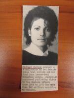 Vintage Wire AP Photo Michael Jackson Singer  King of Pop Thriller Portrait #8