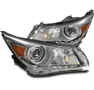 FOR 10-13 BUICK LACROSSE HID MODEL PROJECTOR HEADLIGHT LAMP BLACK LEFT+RIGHT SET