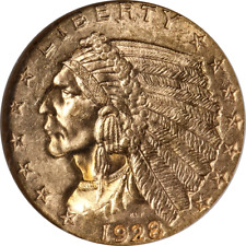 1928 Indian Gold $2.50 ANACS MS63 Superb Eye Appeal Strong Strike