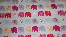 SNUGGLE FLANNEL ELEPHANTS IN LINE  1 YARD BTY