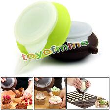 Silicone Cake Baking Decorating Pot Pen Pastry Cream Set Muffin 3Nozzle Kit New