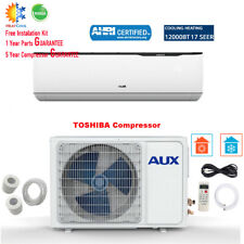 AUX 12000BTU Ductless Air Conditioner Heat Pump MINI Split 1TON 115V 17SEER W/Ki
