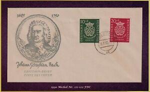 Musik und Philatelie: BRD 1950 - FDC - Michel-Nr. 121-122 = 600 EUR