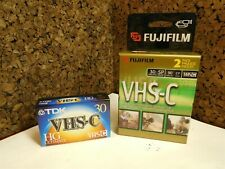 FujiFilm Vhs-C Camcorder Tc-30 Blank Tapes 2 Pack New + Tdk Hg Ultimate