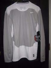 Men's NIKE Dri-Fit Max Shield Pro Combat Shirt Sz. M White/ Gray 635270 $80.00