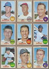 1968 68 Topps YOU PICK SINGLES FROM #1-598 ALL HIGH GRADE NEAR MINT OR BETTER