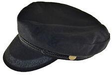 Broner Wool Blend Fisherman Cap Greek Sailor Hat Black Small