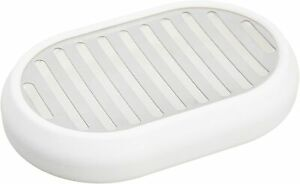Stainless Steel Soap Dish - White