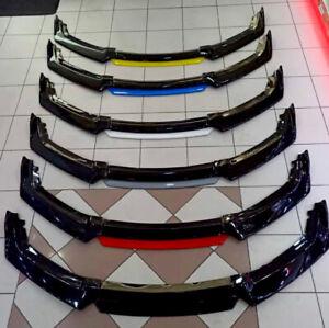 4PCS Universal Carbon Fiber Look Front Bumper Lip Chin Body Kit Spoiler Splitter