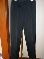 ESCADA TANJA BLACK LINEN BLEND DRESS PANTS SLACKS STRAIGHT LEG 5002064 Sz 40