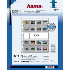 "HAMA 2014 35MM MOUNTED SLIDE STORAGE PAGES  2""X2"" PACK 12 SHEETS 5X5CM"