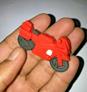 Mini Motorbike Shaped Rubber Pencil Eraser Novelty Stationery Gift for free ship