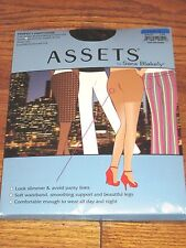 Assets Sara Blakely Spanx Perfect Pantyhose Full Length Body Shaping Black 4 NWT