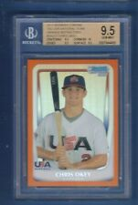 CHRIS OKEY 2011 Bowman Chrome Draft USA Orange Refractor RC #/25 BGS 9.5