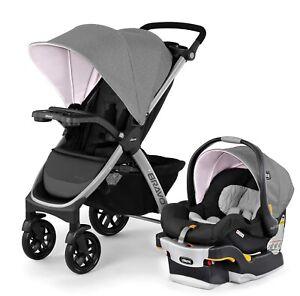 Chicco Bravo Trio Travel System Stroller w/ KeyFit 30 Infant Car Seat Ava NEW