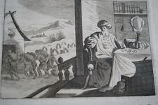 GRAVURE SUR CUIVRE FOLIE DES RICHESSES JESUS-BIBLE 1670 LEMAISTRE DE SACY (B212)