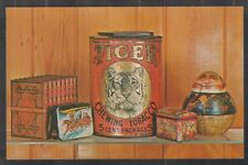 1960 Advertising Postcard for Book of Collectible Tin Containers Chrome Postcard