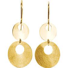 14 k yellow gold circle fashion earrings