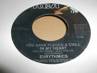 """EURYTHMICS * YOU HAVE PLACED A CHILL IN MY HEART * 7"""" SINGLE 1987 EXCELLENT"""