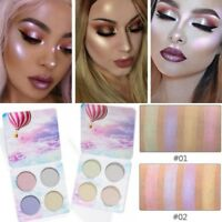 4 Highlighter Powder Palette Shimmer Face Colors Eye Shadow Glow Makeup