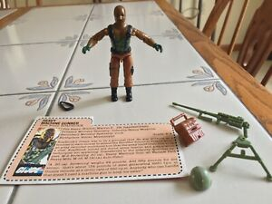 Vintage GI Joe 1984 Roadblock V.1 Complete with File Card