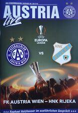 Programm UEFA EL 2017/18 Austria Wien - HNK Rijeka / Derby Rapid Wien