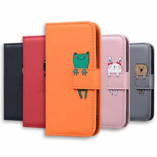 Animal Leather Wallet Flip Stand Case Cover For Samsung Galaxy A01 S20 A51 A71