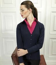 Button Acrylic Thin Knit Jumpers & Cardigans for Women