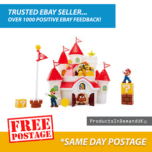 Nintendo Super Mario Deluxe Mushroom Kingdom Castle Playset ✅ Free postage