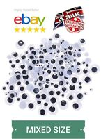 TOP QUALITY 120 MIXED PACK x WIGGLY WIGGLE EYES GOOGLE GOOGLY (Stickers) CRAFT